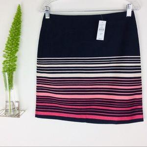 NWT LOFT Outlet Petite Gorgeous Striped Skirt (6P)